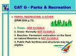 cat g parks recreation