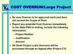 cost overrun large project