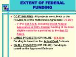 extent of federal funding