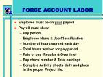 force account labor