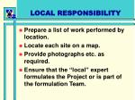 local responsibility