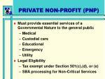 private non profit pnp