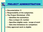 project administration