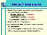 project time limits