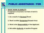 public assistance for