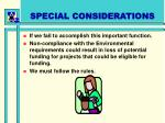 special considerations1