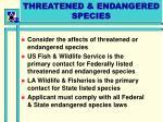 threatened endangered species