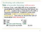 accelerating cash collections sale of receivable factoring with recourse