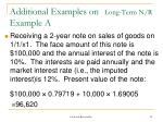 additional examples on long term n r example a