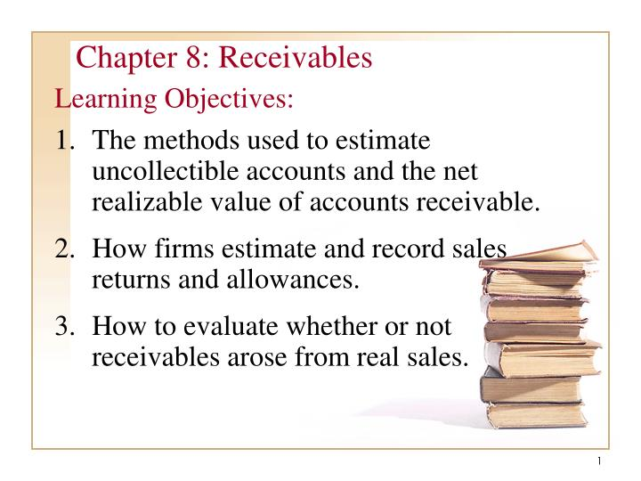 chapter 8 receivables n.