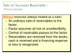 sale of accounts receivable without recourse