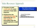 sales revenues approach