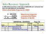 sales revenues approach1