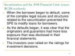 securitization and the 2008 financial crisis souce rcjm textbook1