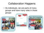 collaboration happens