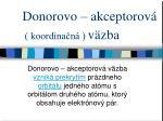 donorovo akceptorov koordina n v zba