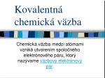 kovalentn chemick v zba
