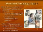 abnormal psychology part 3