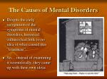the causes of mental disorders