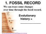 1 fossil record