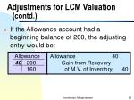 adjustments for lcm valuation contd2