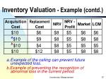 inventory valuation example contd