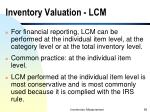 inventory valuation lcm