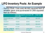 lifo inventory pools an example