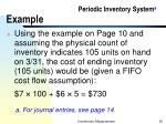 periodic inventory system a example