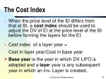 the cost index