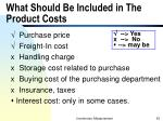 what should be included in the product costs