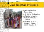 gram panchayat involvement