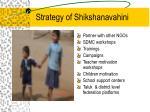 strategy of shikshanavahini