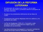 difusi n de la reforma luterana