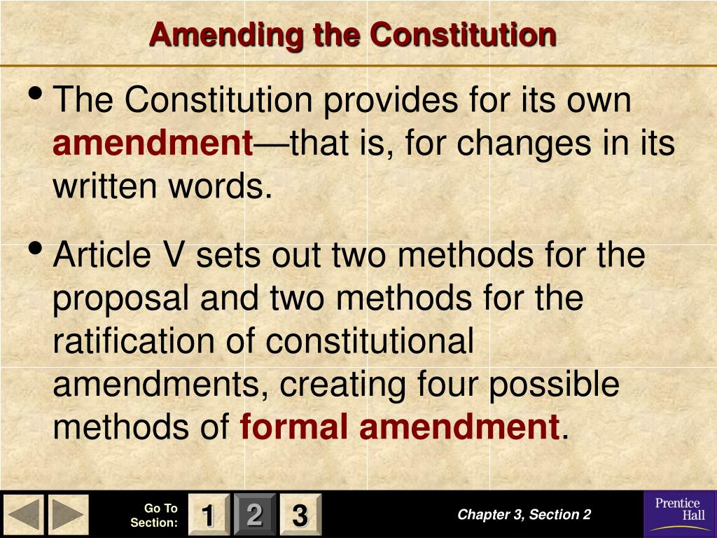 PPT - Amending the Constitution PowerPoint Presentation ...