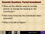 essential questions formal amendment