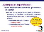 examples of experiments 1