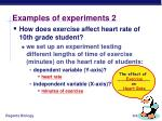 examples of experiments 2