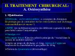 ii traitement chirurgical a ost osynth se3