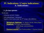 iv indications contre indications a indications1