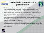 leadership for promoting police professionalism