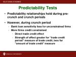 predictability tests1