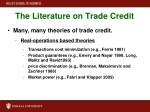 the literature on trade credit