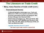 the literature on trade credit1