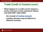 trade credit in context cont