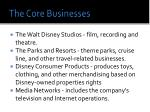 the core businesses