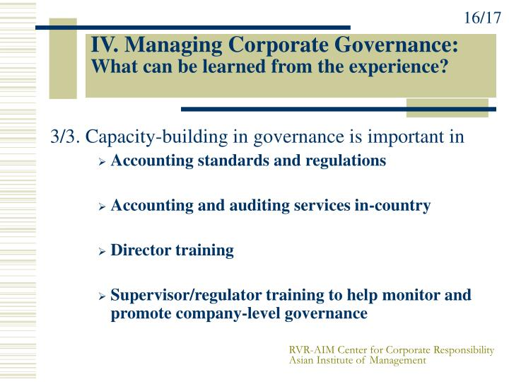 an overview of corporate governance Corporate governance is the system of rules, practices and processes by which a firm is directed and controlled corporate governance essentially involves balancing the interests of a company's.