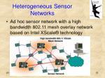 heterogeneous sensor networks