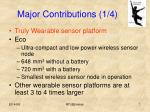 major contributions 1 4