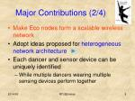 major contributions 2 4